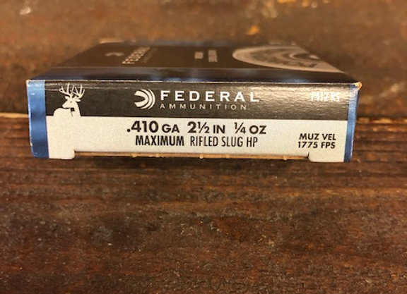 Federal 410 ga. Rifled Slug