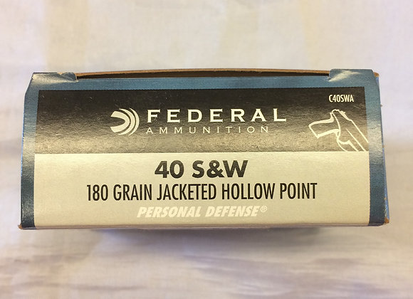 Federal 40 S&W 180 Grain Jacketed Hollow Point