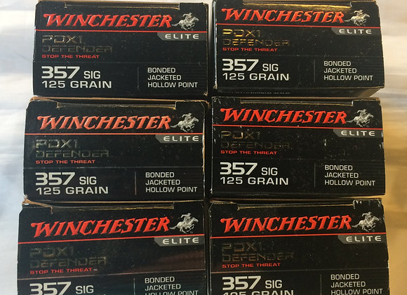 Winchester 125 GR 357 Sig PDX1 AMMO