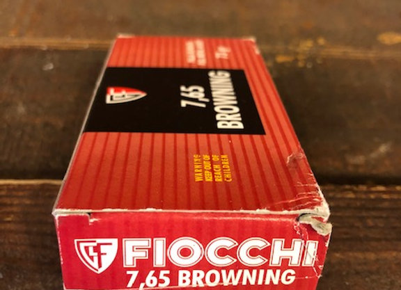 Fiocchi 7.65 Browning Ammo