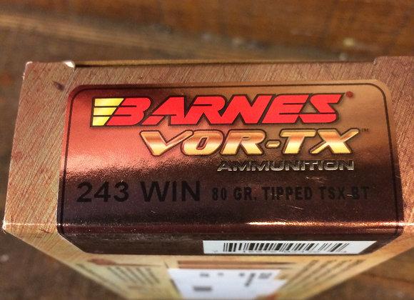 Barnes 243 80 gr. AMMO