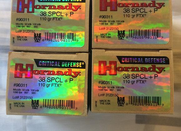 Hornady 110 GR FTX 38 SP+P