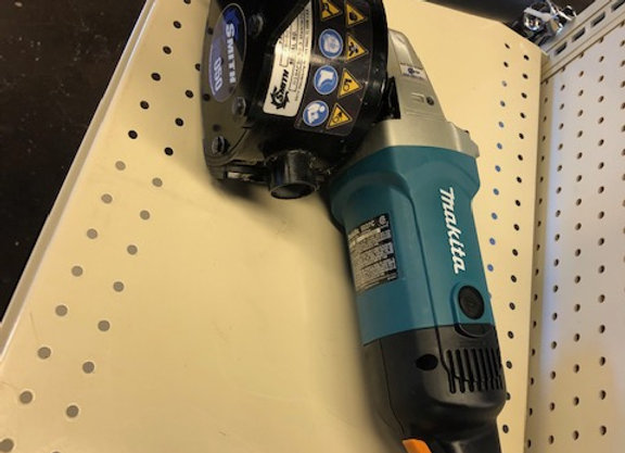 MAKITA 9227C WITH SMITH FS050 HEAD GRINDER