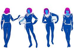 Lady Alien Astronaut