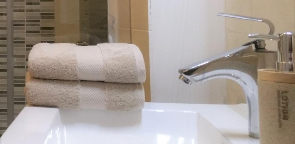 Linge de toilette fourni