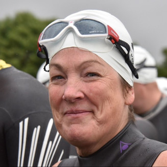 Kath acing the swim at Ripon 2016