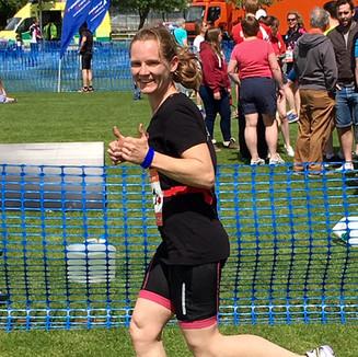 Sarah running at Driffield 2017