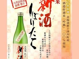 北海道新十津川町産 酒造好適米「吟風」100% 千歳鶴 純米「新酒 しぼりたて』