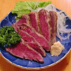 タタキ風ヒレ薄切りステーキ
