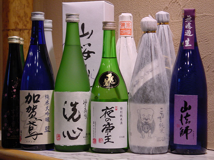 Many kinds of sake brewery prepared