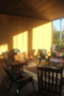 Our front porch on a summer evening