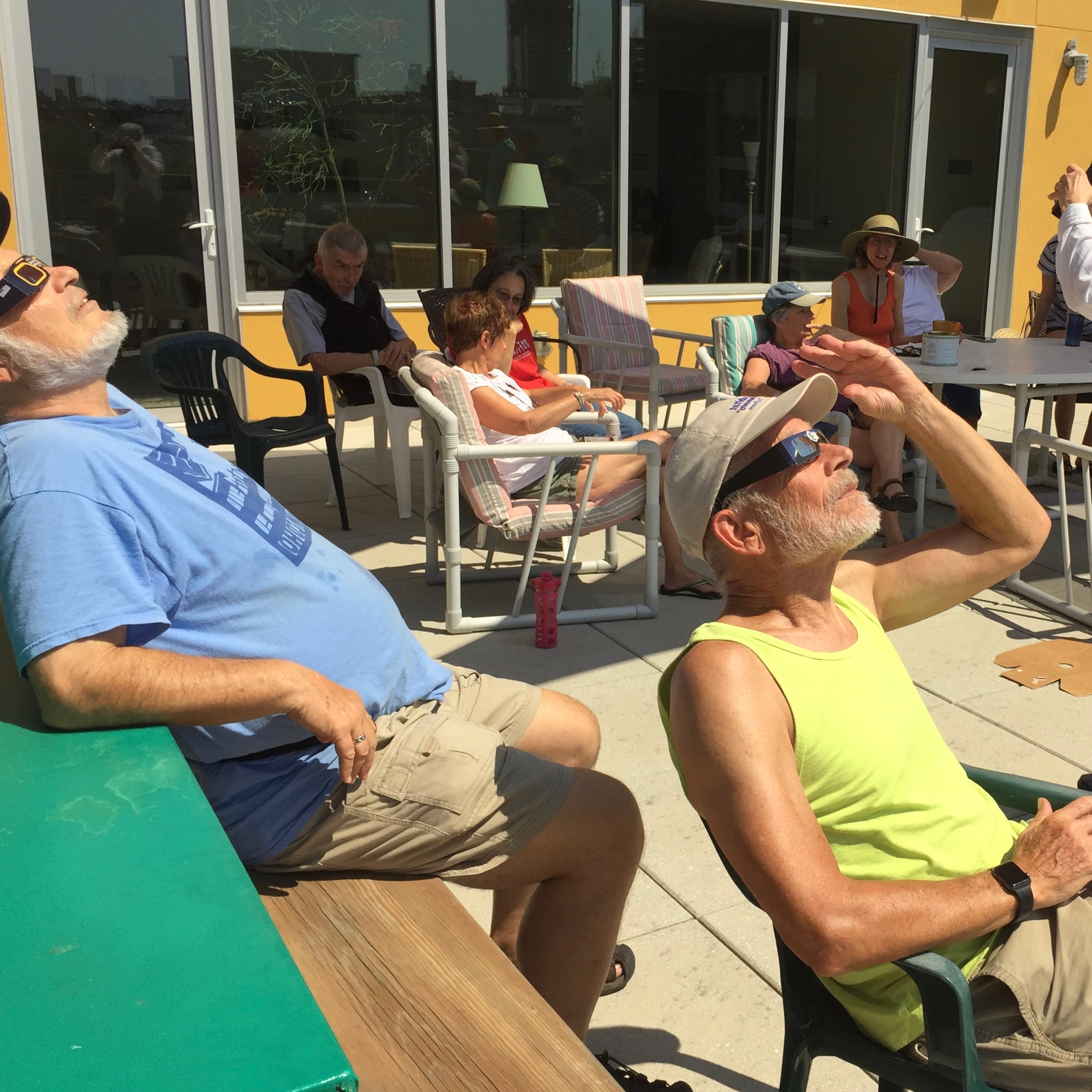 Rooftop eclipse watching