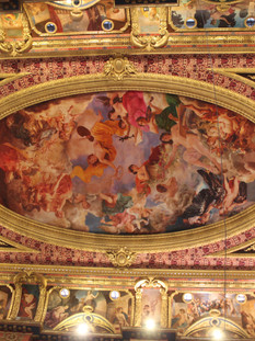 The mural of the ceiling