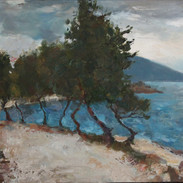 seaside promenade_33x60_oil_on _canvas_2