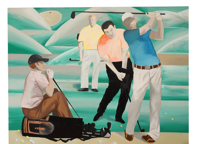 Golf, 2019 Acrylic, Oil on Canvas, 120 x 150cm