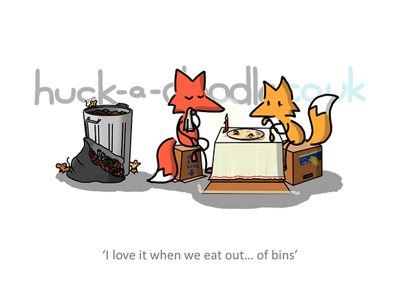 """eating out"" greetings card"