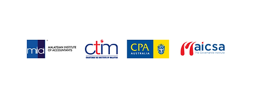 Malaysian Institute of Accountants, Chartered Tax Institute of Malaysia, CPA Malaysia, Malaysian Institute of Chartered Secretaries and Administrators (MAICSA)