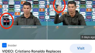 "Ronaldo's Coca-Cola ""Send Off"" at EURO2020"