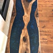 walnut with blue epoxy