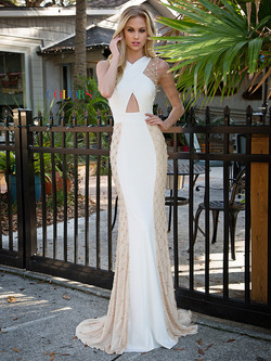 Style 1771 Off White and Nude