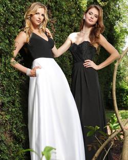 Black and White Bridesmaids
