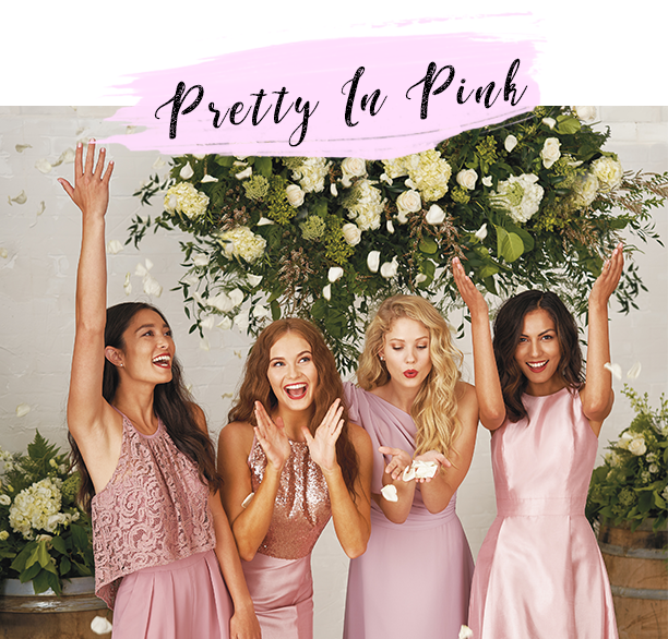 pretty in pink bridesmaid dresses