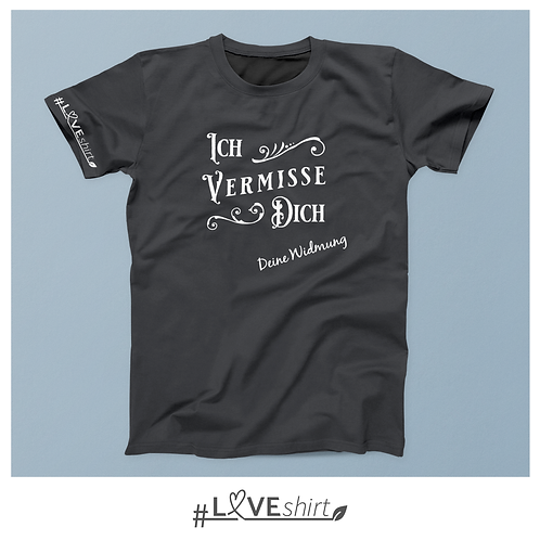#LOVEshirt Herren Rundausschnitt Asphalt