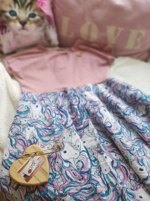 Feen - Kleid  Einhorn