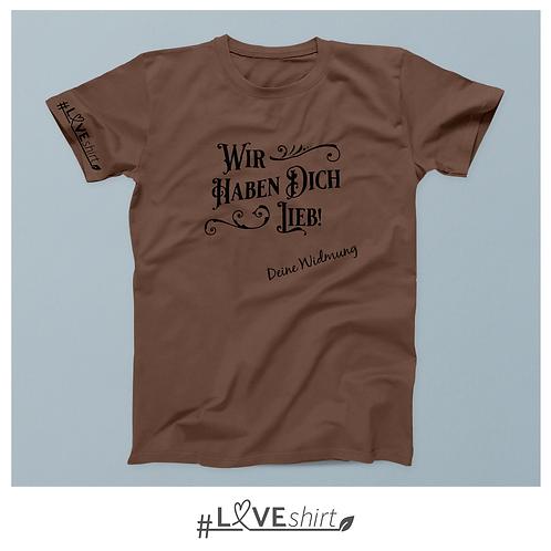 #LOVEshirt Herren Rundausschnitt Mocca