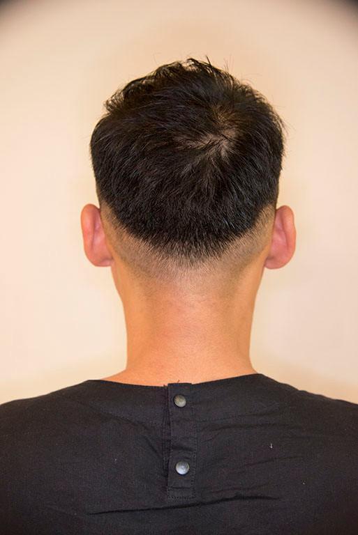 短髪 刈り上げ バック