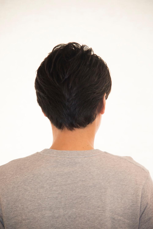 毛流れ重視ヘアスタイル