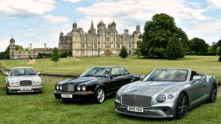 2002 Bentley Continental R Mulliner; 1998 Bentley Continental T; 2019 Bentley Continental GTC
