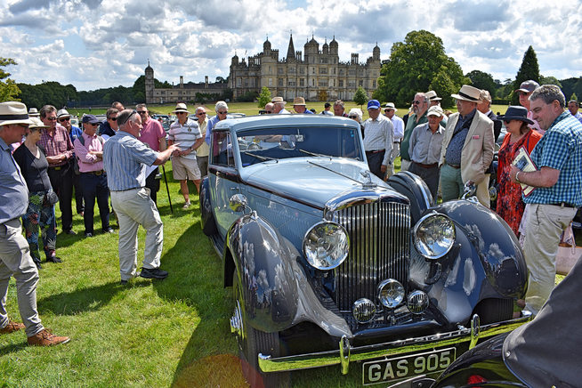 Bentley 100 tour of interesting cars, looking at 1938 4¼ fhc by De Villars