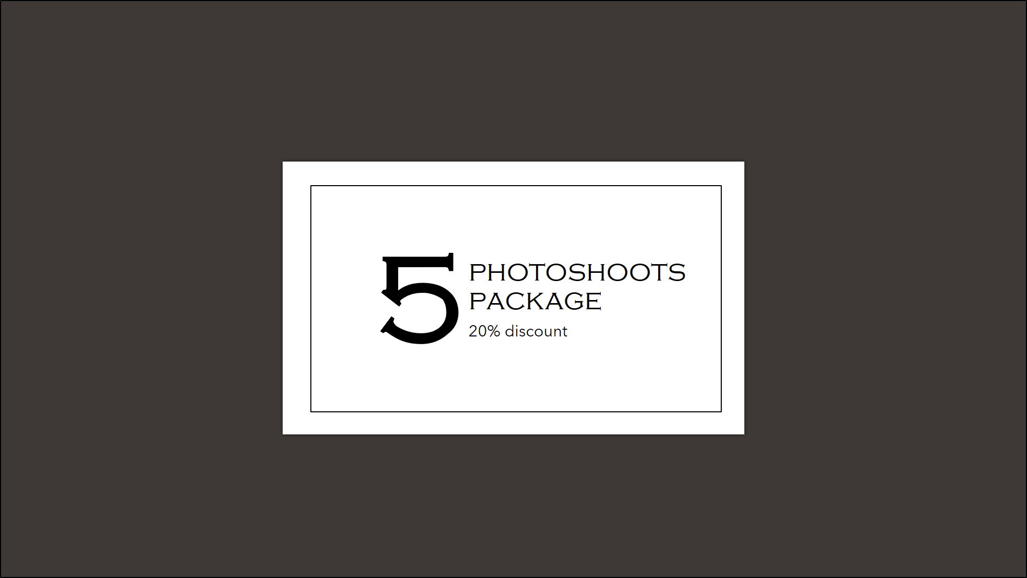 5 X 1hr-photoshoots package