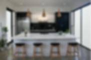 large kitchen island stools black walls