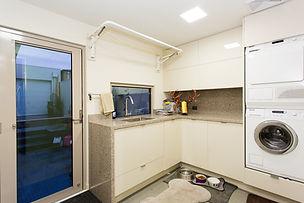 stone laundry cabinet