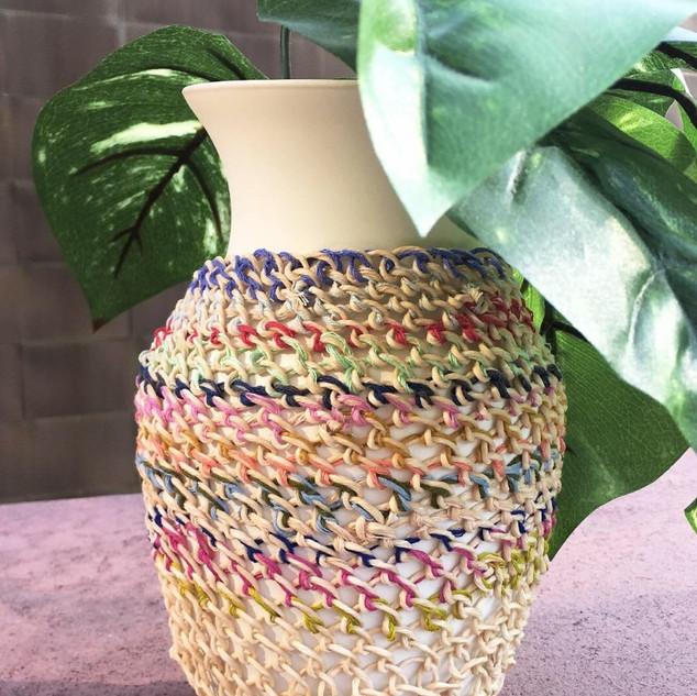 knotless netting vase cover