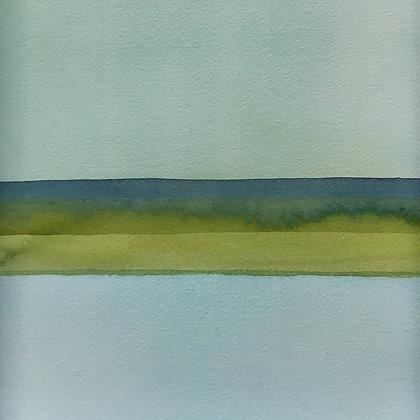 aqua watercolor wash