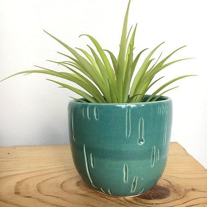 aqua carved cup