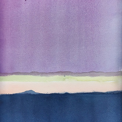 purple + navy watercolor wash