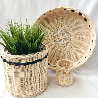 twined baskets