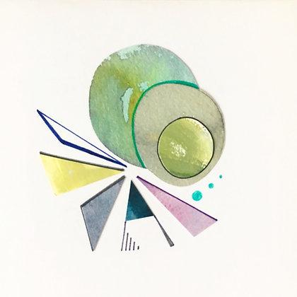 abstract card three  ◉▲