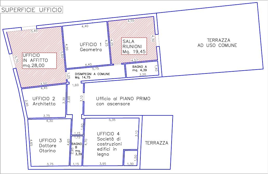 Piantina uffici