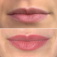 Lip Blush Healed after first session.