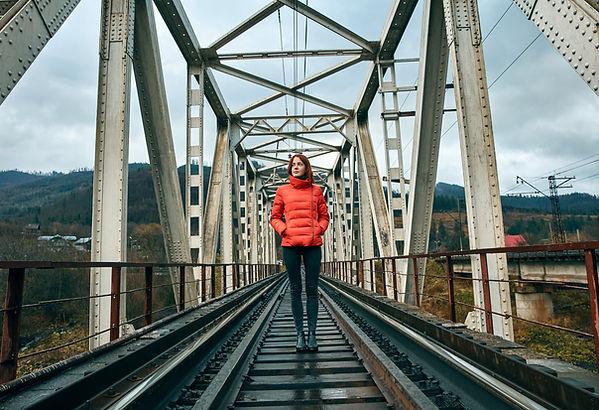 Girl on Railway Track