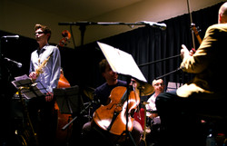 Partikel with strings ; photo by Rachel Zhang
