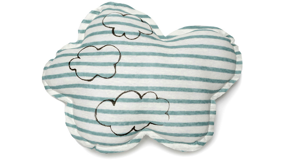 Cloud Print Cloud Shaped Pillow