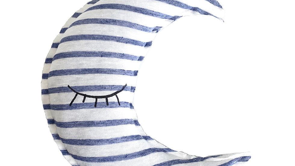 Sleeping Moon Striped Pillow
