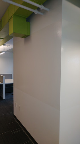 Interior office space renovations for Rockford Construction.