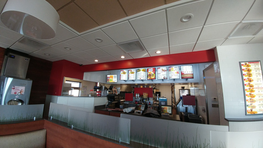 Wendy's Interior for Wolverine Building Group.
